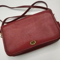 Vintage Coach 9755 Pocket Purse Crossbody Bag Red Leather  Photo