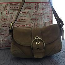Vintage Coach Authentic 100% Suede Beige Handbag Photo