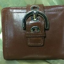 Vintage Coach Authentic Wallet Purse Handbag Clutch Brown Leather Photo