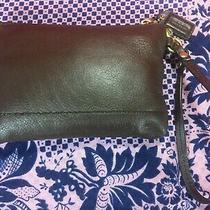 Vintage Coach Authentic Wristlet Coins Purse Handbag Dark Brown Leather Photo
