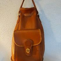 Vintage Coach Backpack 9992  Cognac Brown  Rare  Handle & Turn Lock  Photo