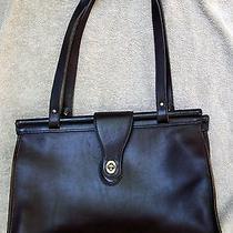 Vintage Coach Barclay Tote Handbag Mahogany 9096  Photo