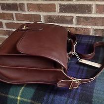 Vintage Coach Baseball Glove Leather Briefcase Satchel Bag R698 Photo