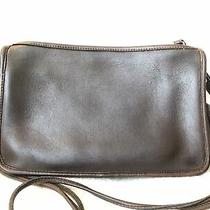 Vintage Coach Basic Bag Mahogany Dark Brown Nyc Clutch Crossbody Wristlet Photo