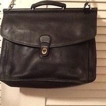 Vintage Coach Beekman Black Brass Briefcase Laptop Bag 5266 Photo