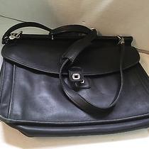 Vintage Coach Beekman Black Leather Computer  Attache Messenger Bag 5266 Photo
