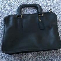 Vintage Coach Black Briefcase Messenger Laptop Bag - Usa  Photo