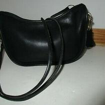 Vintage Coach Black Double Strap Shoulder Crossbody Handbag Purse Photo