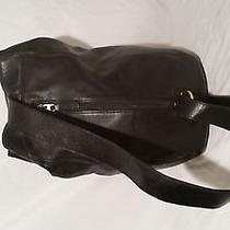 Vintage Coach Black Leather Backpack Shoulder Sling School Book Bag B7c 4160 Photo