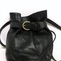 Vintage Coach Black Leather Belted Soho Crossbody Purse Bag 4156  Photo