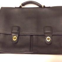 Vintage Coach Black Leather Briefcase  Photo