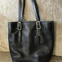 Vintage Coach Black Leather Bucket Legacy Classic Tote Bag  Purse 9803 Usa Made Photo