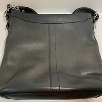 Vintage Coach Black Leather Crossbody Messenger Bag J2s-9188 Photo