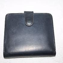 Vintage Coach Black Leather Wallet With Change Purse Photo