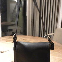 Vintage Coach Black Saddle Bag Purse/handbag/l