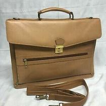 Vintage Coach British Genuine Tan Leather Bag Briefcase Laptop by Swiss Amiet Photo