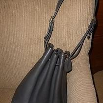 Vintage Coach Brown/black Drawstring Bucket Bag Duffle Hobo Handbag Pocket Book Photo