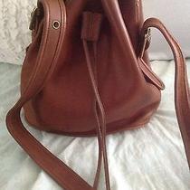 Vintage Coach Brown Bucket Handbag Photo