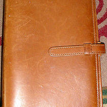 Vintage Coach Brown Leather Book Form Organizer & 6 Ringed Paper Notebook Etc Photo