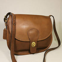 Vintage Coach Brown Leather Retro Boho Crossbody Saddle Bag Handbag Purse Nyc  Photo
