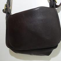 Vintage Coach Brown Leather Shoulder Bag Photo