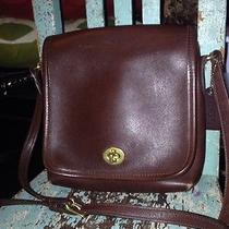 Vintage Coach Brown Leather  Shoulder Bag Purse Photo