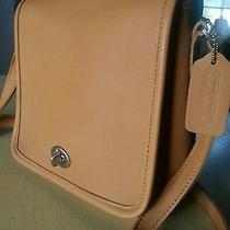 Vintage Coach Brown or Camel Color Satchel Crossbody Purse Handbag 9076 Photo