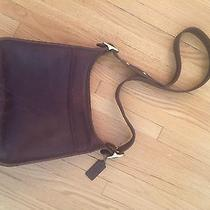 Vintage Coach Bucket Bag - Brown Leather Photo