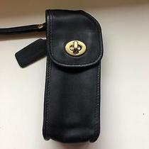 Vintage Coach Cell Phone Case Black Leather Photo