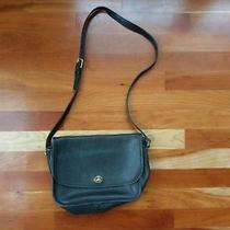 Vintage Coach City Bag 9790 Black Leather Flap Handbag Shoulder Purse Turn Lock Photo