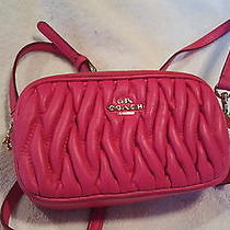 Vintage Coach Crossbody Pouch..pink Photo