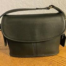 Vintage Coach Dark Navy Blue Equestrian Small Flap Bag 9801 Photo