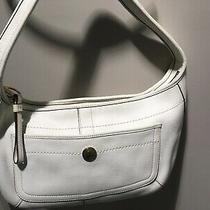 Vintage Coach Ergo Pebble Off White Leather Hobo Bag L0782-11612 Photo