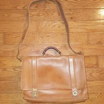 Vintage Coach Essex 5274 Cognac Brown Leather Briefcase Attache Laptop Shoulder Photo