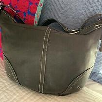 Vintage Coach Genuine Black Leather Shoulder Bag Handbag Purse Photo
