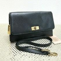 Vintage Coach Gramercy Clutch Convertible 7007 Black Leather Made in Italy  Euc Photo
