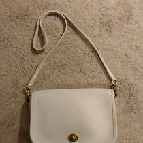 Vintage Coach Ivory Leather Mini Clutch Cross Body Messenger Purse Bag B5c-9755 Photo