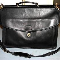 Vintage Coach Laptop Computer Briefcase Handbag School Office Shoulder Strap  Photo