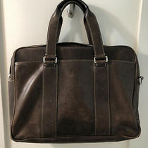 Vintage Coach Large Brown Leather Business Tote Laptop Case Bag Breifcase Photo