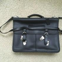 Vintage Coach Leather Briefcase Laptop Computer - Used Euc Photo