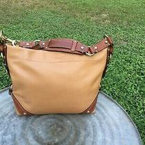 Vintage Coach Leather Carly Hobo Slouch Bag Tan Brown Trim Gold Hardware Euc Photo