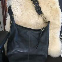 Vintage Coach Leather Crossbody Messenger Purse Shoulder Bag Hobo Brown Large Photo