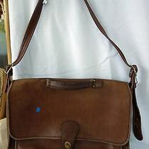 Vintage Coach Leather Messenger Bag Photo