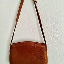 Vintage Coach Leather Shoulder Clutch Bag With Adjustable Strap - Tan Photo