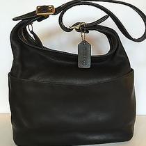 Vintage Coach Legacy Black Leather Shoulder Bag Photo