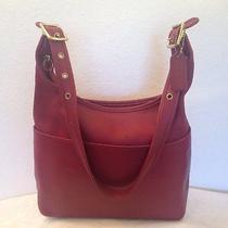 Vintage Coach Legacy Brick Red Leather Hobo Tote Shoulder Satchel Bag 9058 Photo