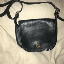 Vintage Coach Legacy Small Flap Crossbody Messenger Bag Navy Blue Soft Leather Photo