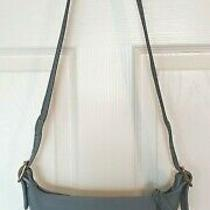 Vintage Coach Maggie Womens Small Light Blue Leather Shoulder Bag Duffle Style Photo