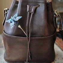 Vintage Coach Mahogany Brown Drawstring Bucket Bag 9804 Made in Usa Photo