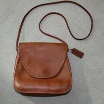 Vintage Coach Medium Saddle Bag Crossbody British Tan Leather Handbag Photo